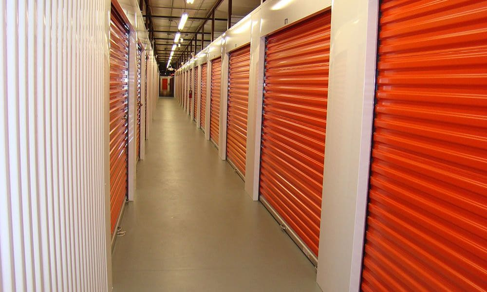 Inside our self storage facility