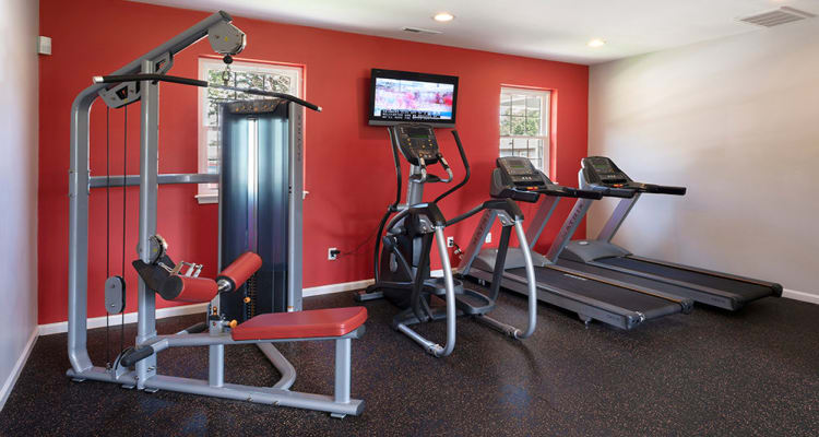 Stay healthy in our fitness center at Eagle Meadows Apartments in Dover