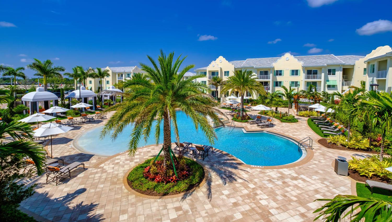 Resort-style pool at Town Lantana in Lantana, Florida