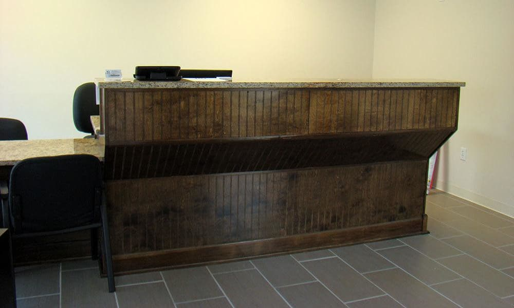 The front desk at AAA Self Storage