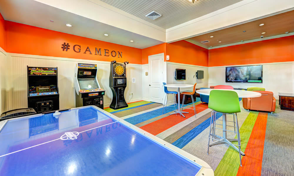 Game room in the clubhouse at Hacienda Club in Jacksonville, Florida