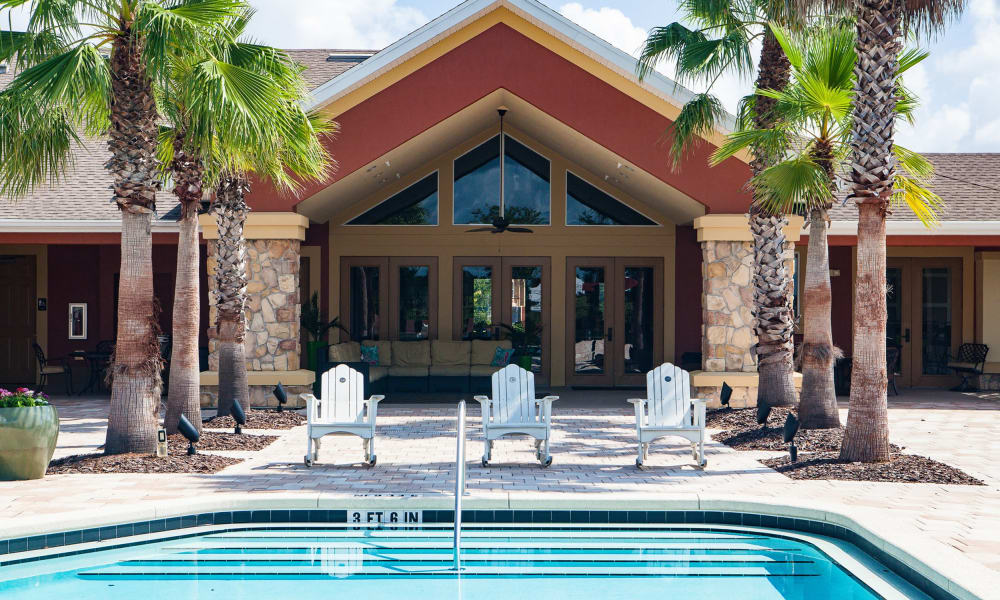 Beautiful swimming pool at apartments in Clermont, Florida