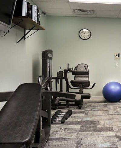 Fitness center at The View at Mackenzi in York, PA