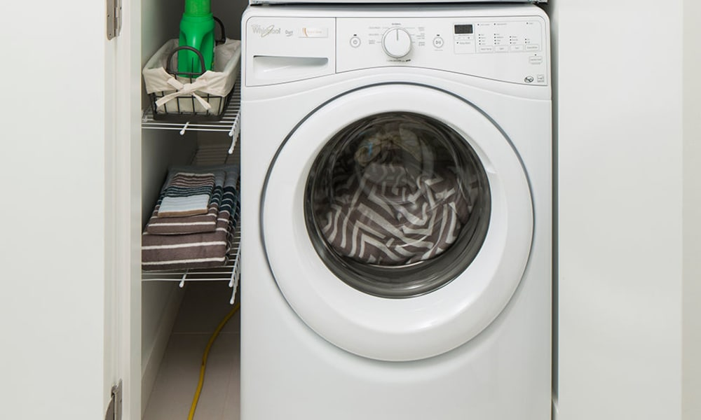Northwoods Village offers a laundry machine in North Vancouver, British Columbia