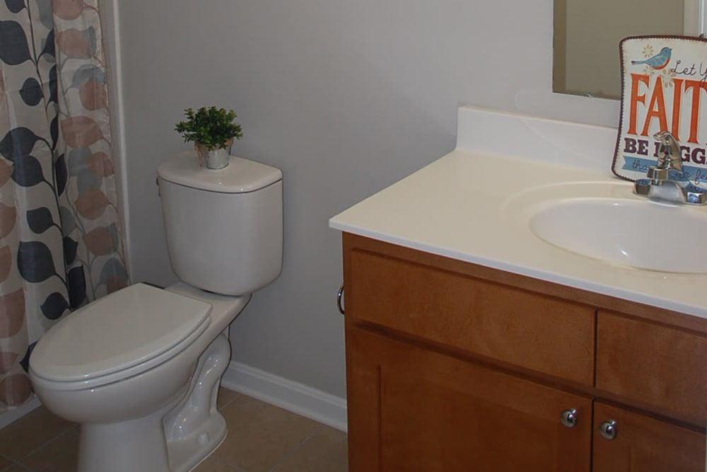 Bathroom at Pikeville Commons Apartments in Pikeville, Kentucky