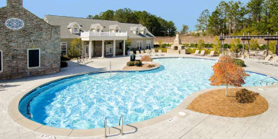 Swimming pool at apartments in Valley, Alabama