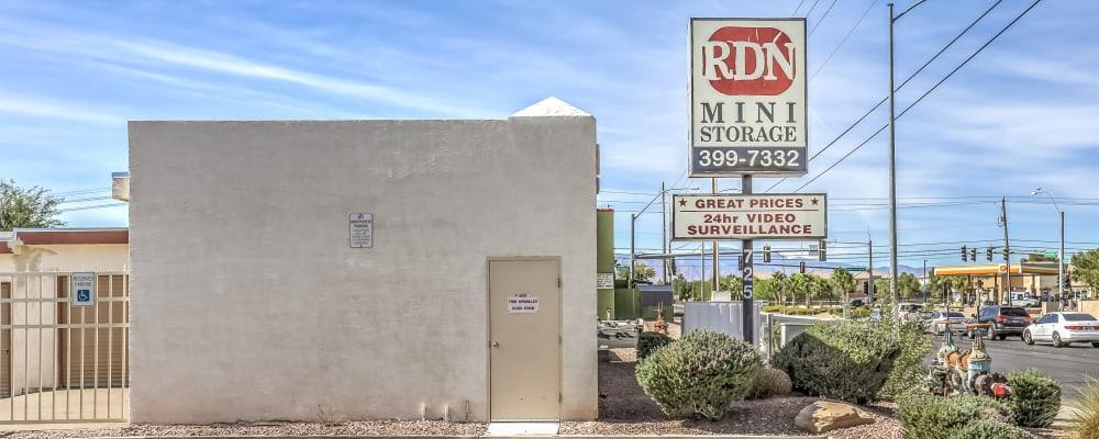 Exterior of Crown Self Storage in North Las Vegas, Nevada
