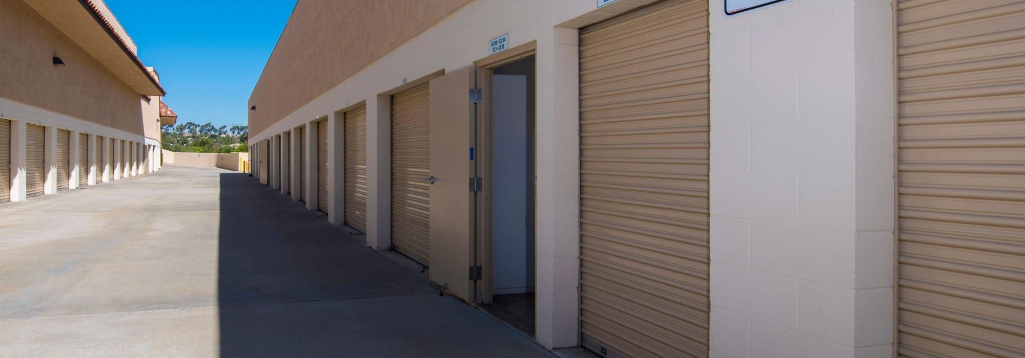 Outdoor units at Carlsbad Self Storage in Carlsbad, California