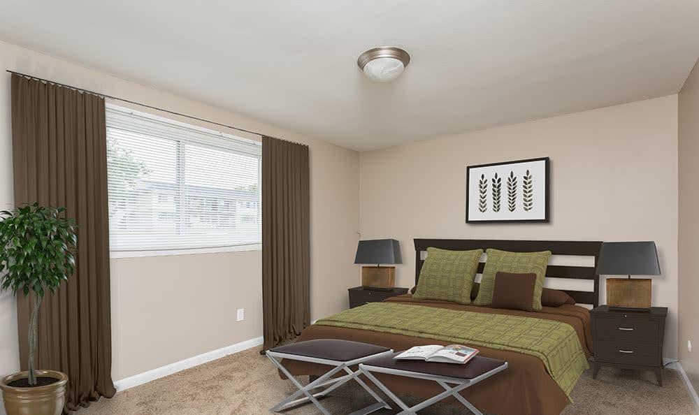 Inviting bedroom at Wellington Manor