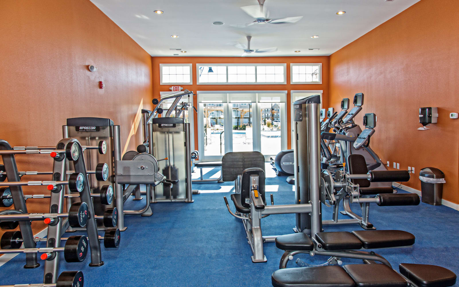 Available gym equipment at Arbor Brook in Murfreesboro, Tennessee