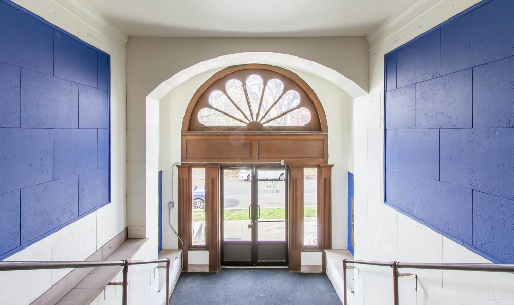 Entry at Mayflower Apartments