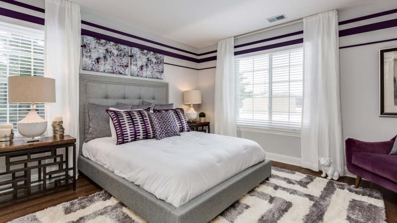Luxurious bedroom at Auburn Gate