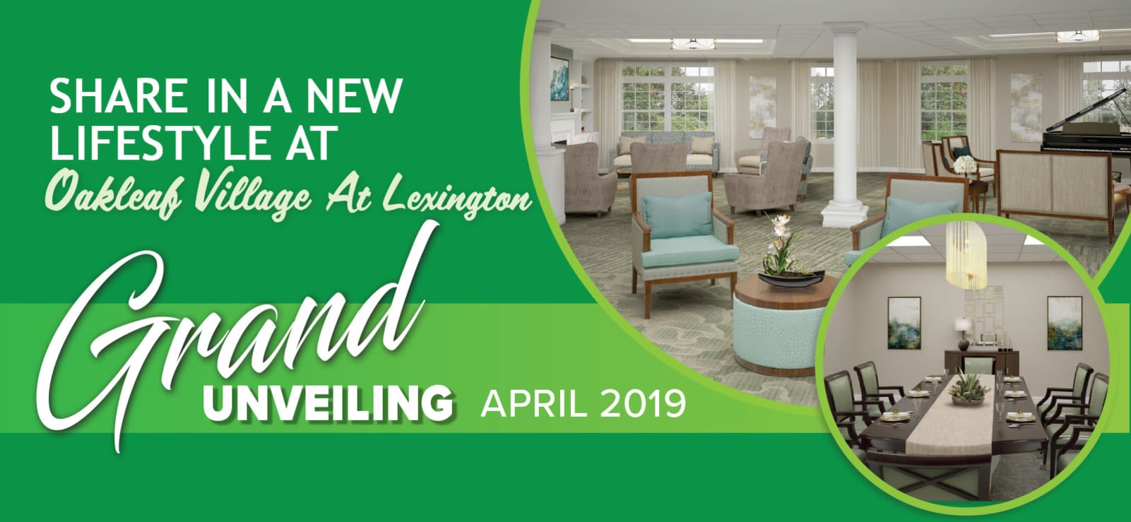 Senior living in Lexington with a wonderful clubhouse and amenities