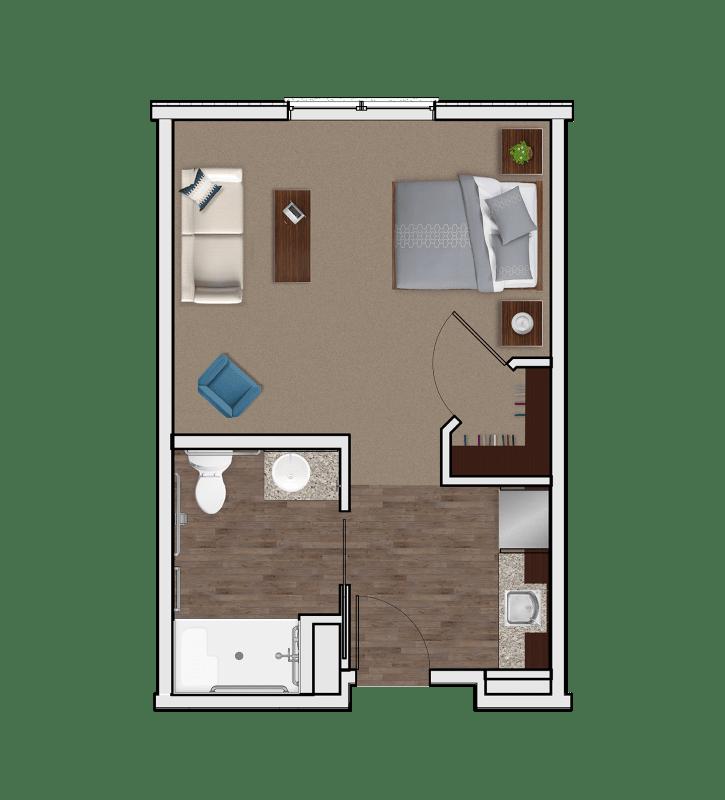 Assisted Living Designer Suite at Stonecrest of Anderson Township in Cincinnati, Ohio