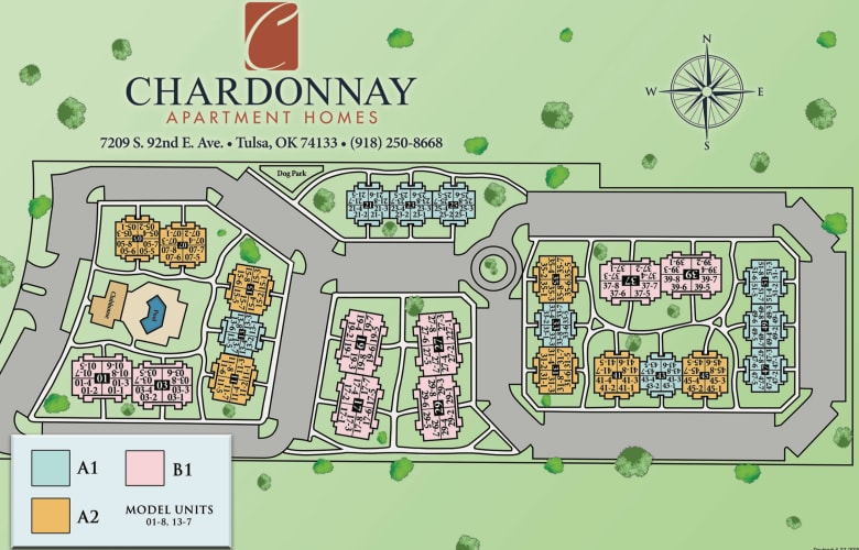 Site map for Chardonnay in Tulsa, Oklahoma