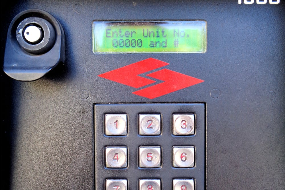 Key pad entry at Capital Self Storage in Harrisburg, PA
