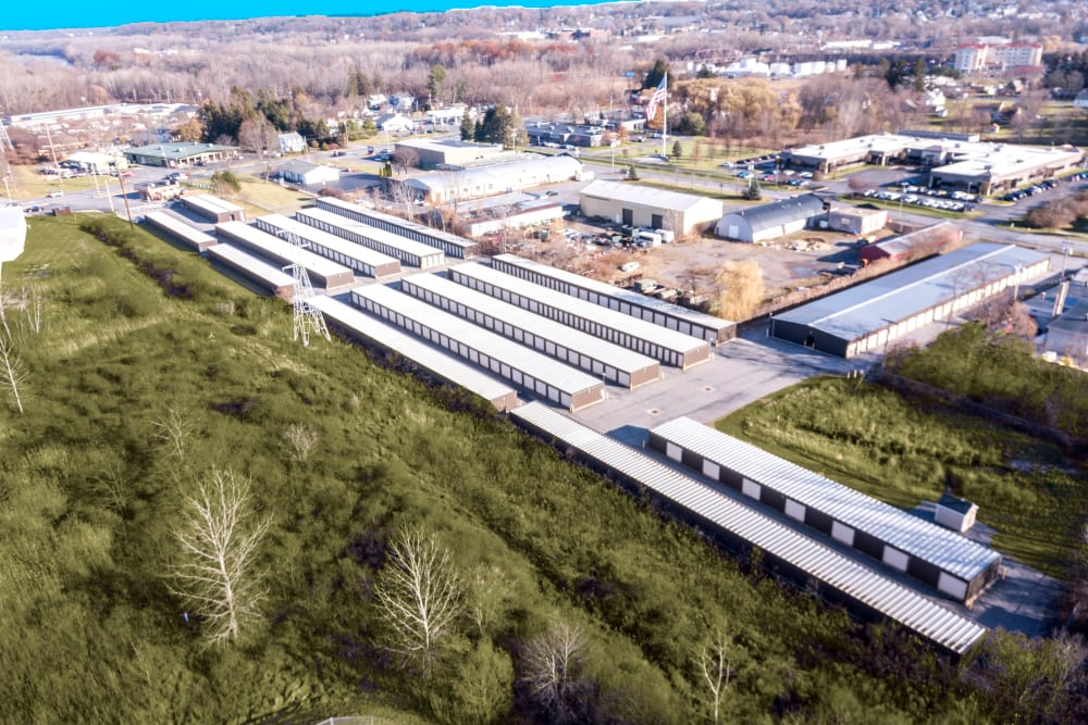 Aerial view of Prime Storage in Glenville, NY