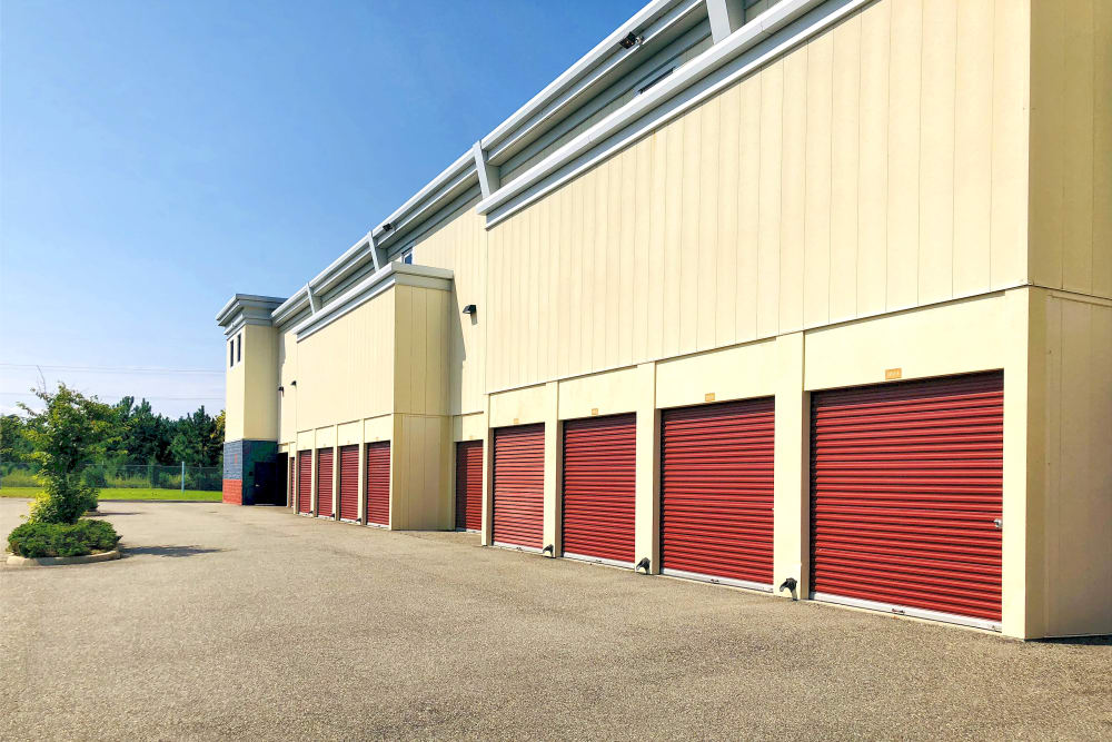 Outdoor storage units at Climatrol Self Storage in Williamsburg, Virginia