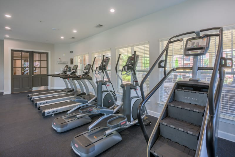 Well equipped fitness center at The Vive in Kannapolis, North Carolina