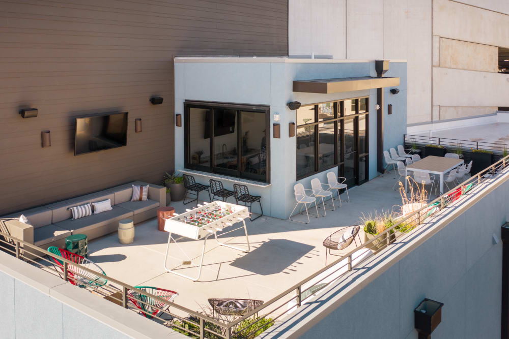 Rooftop lounge area at  in San Antonio,TX