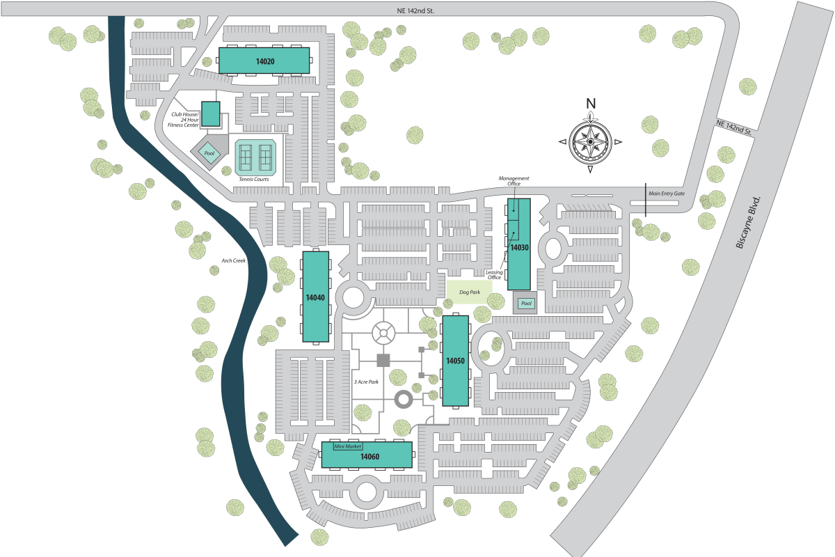 Site plan for Aliro in North Miami, Florida