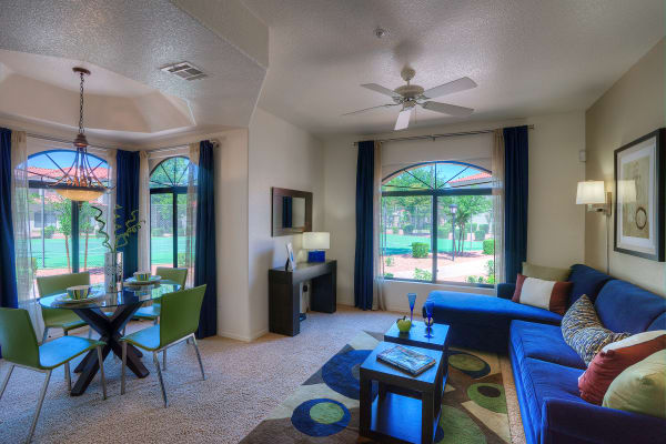 Large luxury living room at San Cervantes in Chandler, Arizona