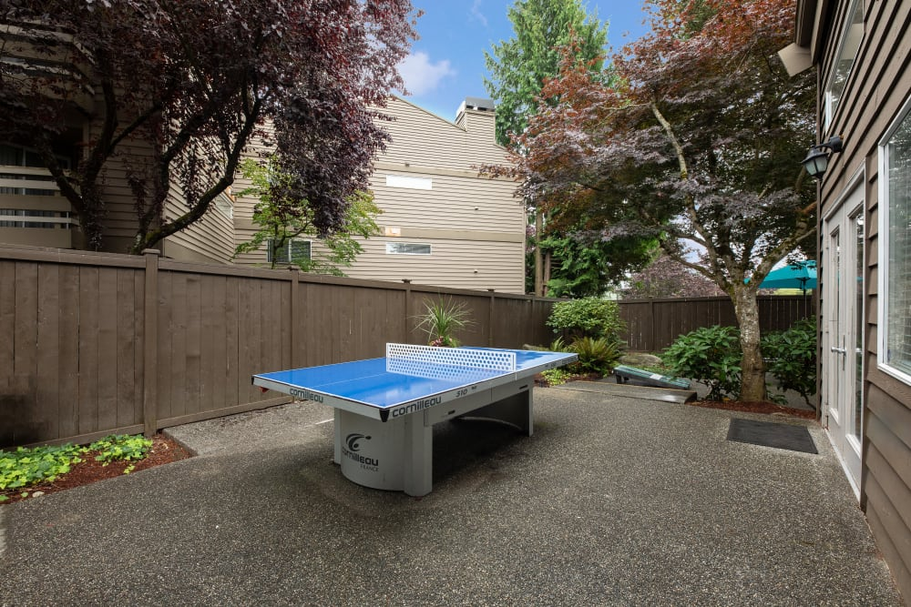 Have fun with an outdoor ping pong table at Latitude Apartments in Everett, Washington