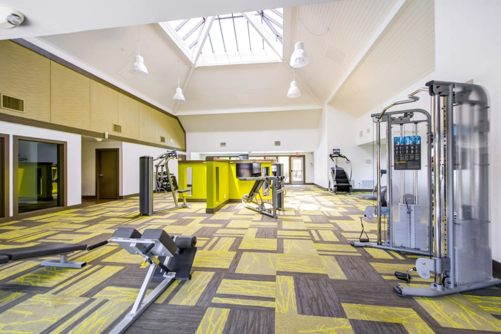 Spacious fitness center at Alvista Terrace