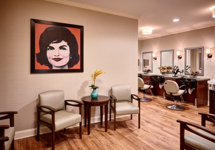 Salon at Waltonwood Cotswold in Charlotte, NC.