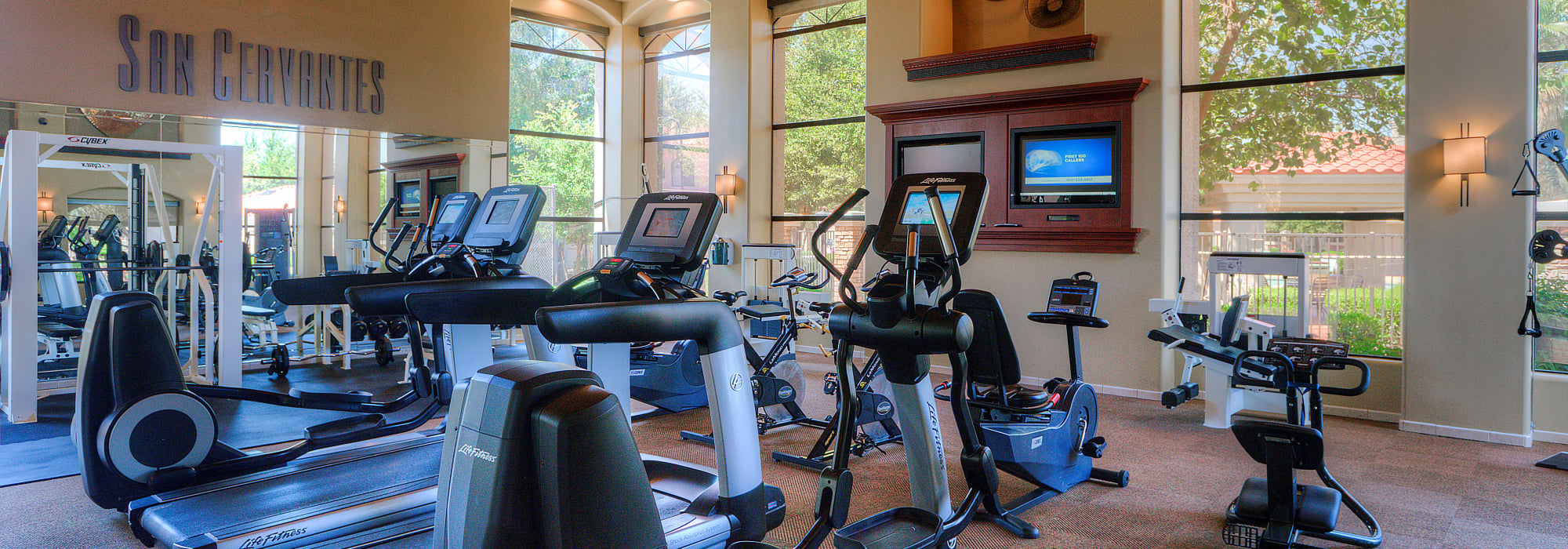 Fitness center at San Cervantes in Chandler, Arizona