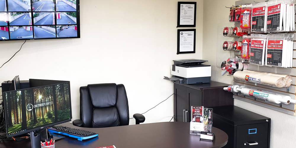 Interior of the leasing office at StorQuest Express - Self Service Storage in Sacramento, California