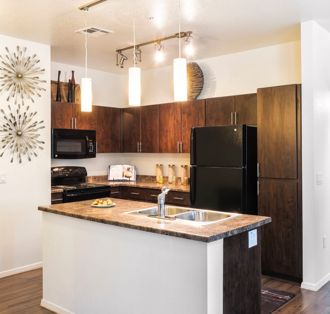 Beautiful apartment features await at Elevation Apartments in Flagstaff