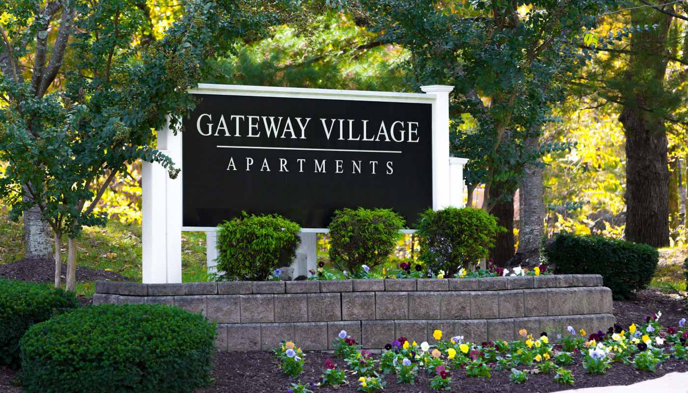 Signage at Gateway Village Apartments in Jessup, Maryland