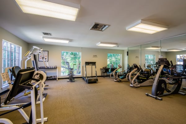 Fitness center at Emerson on Harvest Hill in Dallas, Texas