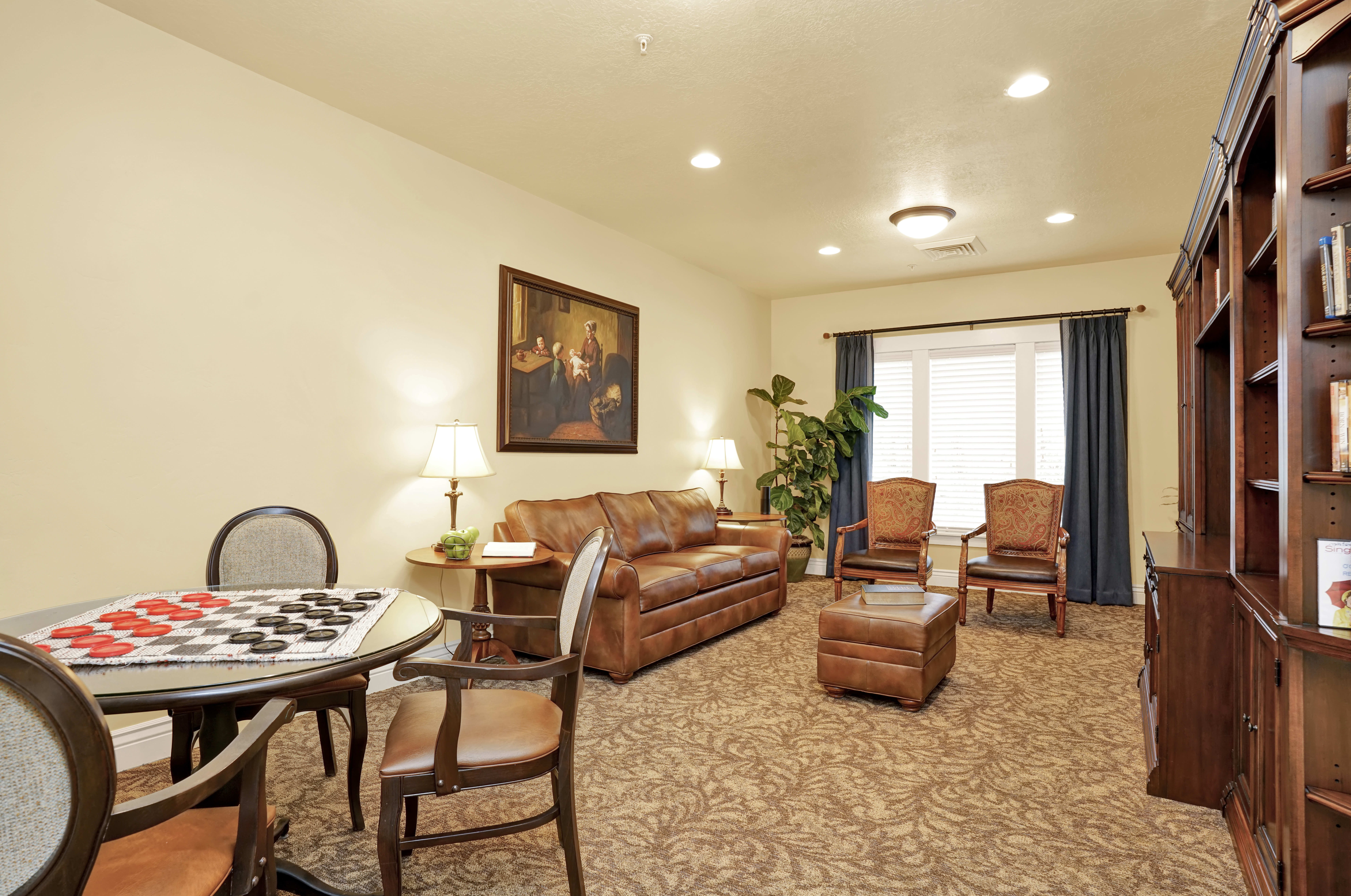 Amenities at the senior living community in Highland