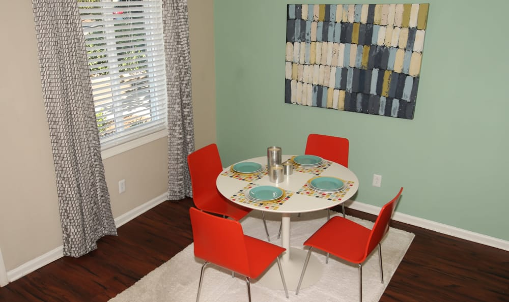 Breakfast nook in model home at The Broadway at East Atlanta