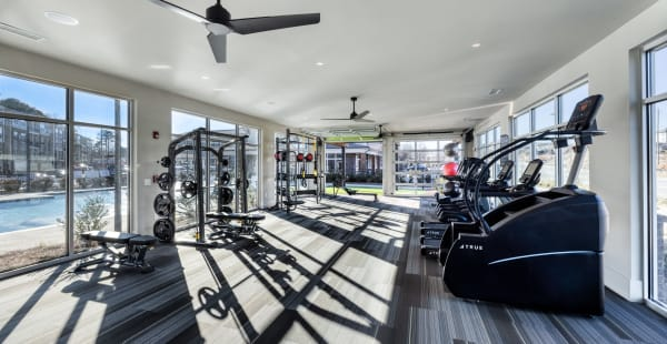 Fitness center at Sugarloaf Grove in Lawrenceville, Georgia