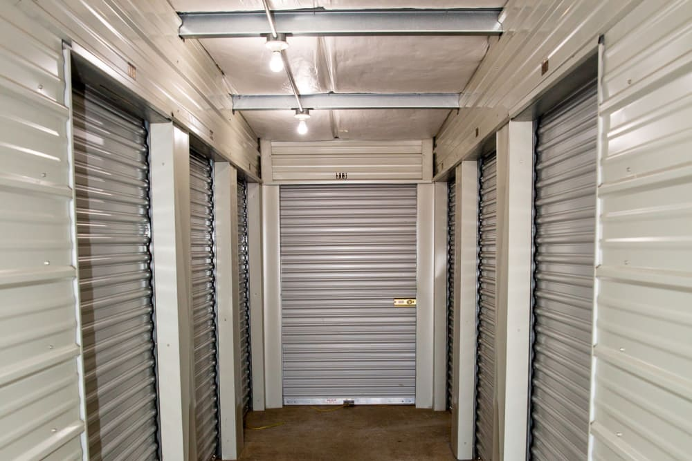 Units with white doors at Battle Ground Mini Storage in Battle Ground, Washington