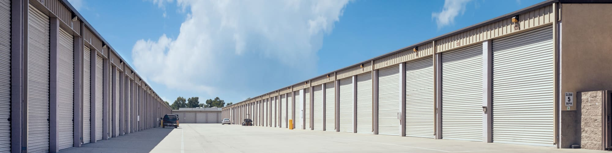 View the unit sizes and prices Stor'em Self Storage in Rancho Cucamonga, California