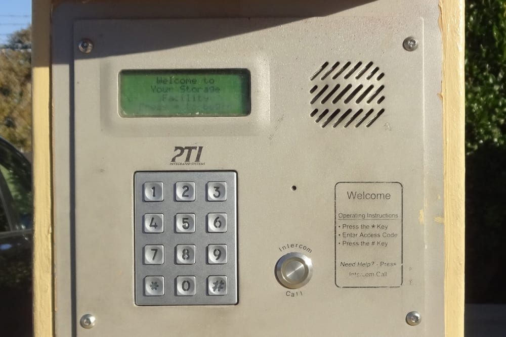 Security Gate Entrance Keypad at Storage Etc... Chatsworth