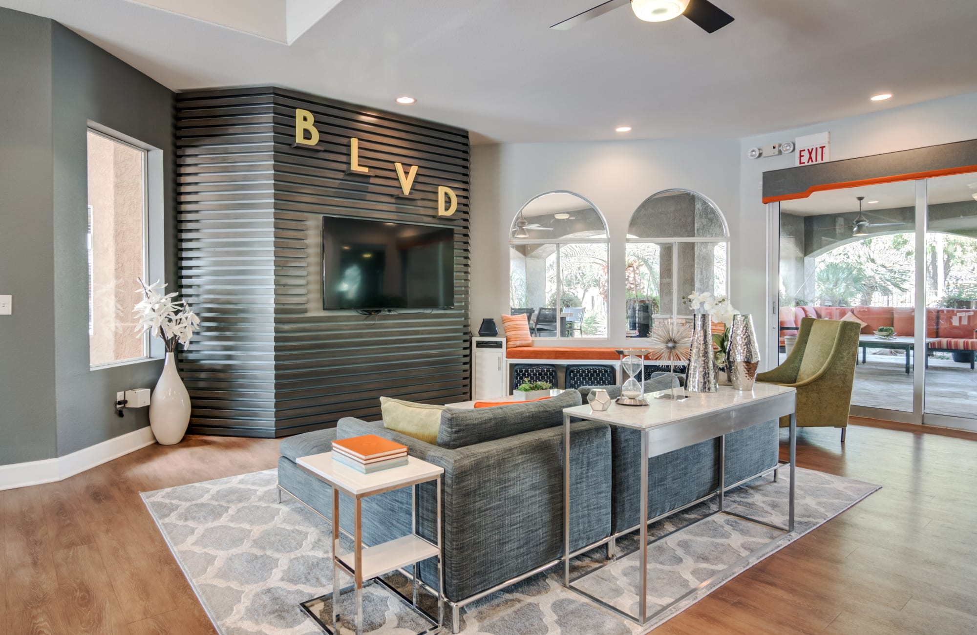 Comfortable community area at The Boulevard in Phoenix, Arizona