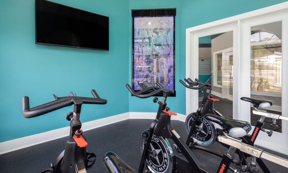 Cycling studio at The EnV in Hollywood, Florida