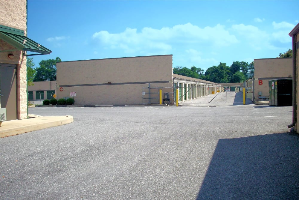 Gated front entrance at Capital Self Storage in Harrisburg, PA