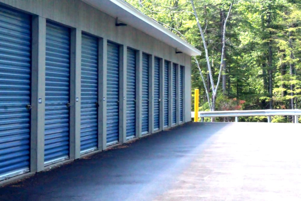 Outdoor storage units at Prime Storage in Arundel, Maine