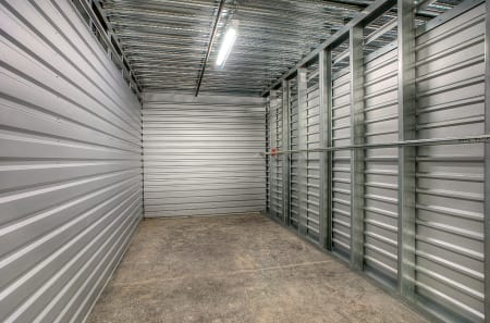 Interior of climate-controlled unit at StorQuest Self Storage in West Babylon, NY