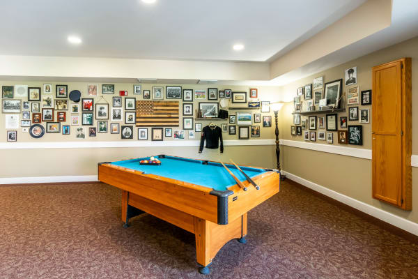 Pool table for seniors at Cottonwood Court in Fresno, California
