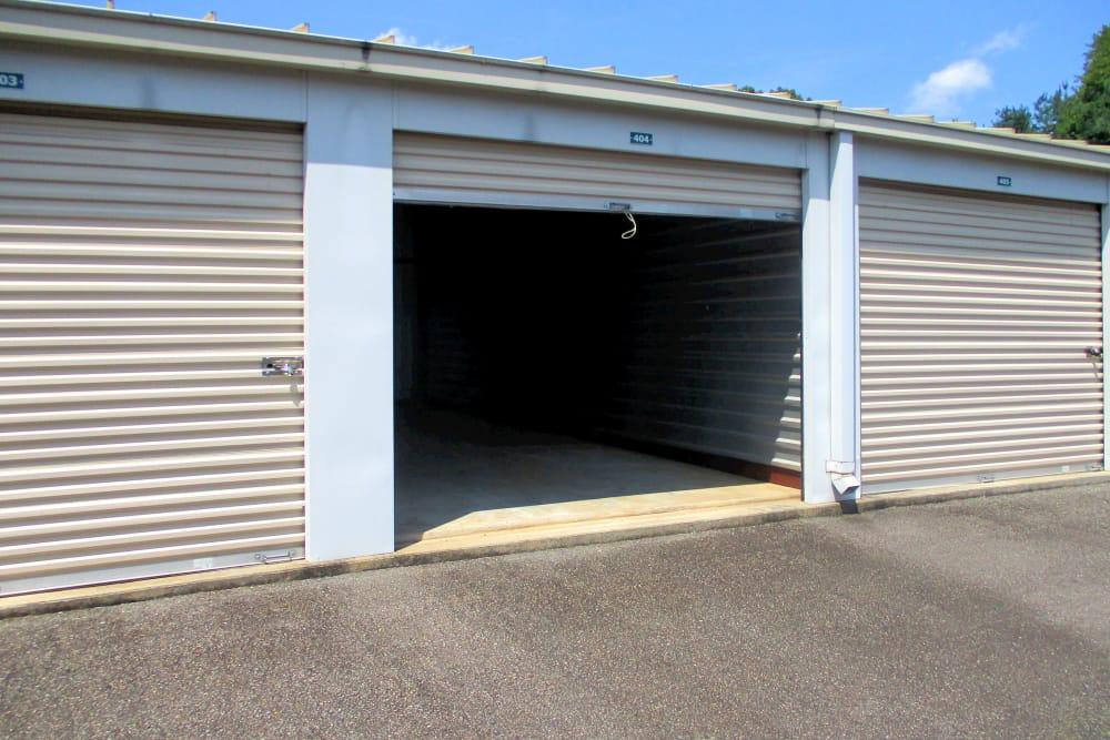 Outdoor storage units at Prime Storage in Montpelier, VA