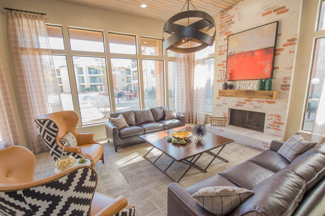 The clubhouse at Woodscape Apartments in Oklahoma City, Oklahoma