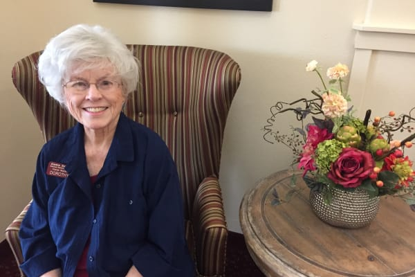 Dorothy Sanders at Camellia Gardens Gracious Retirement Living in Maynard, Massachusetts
