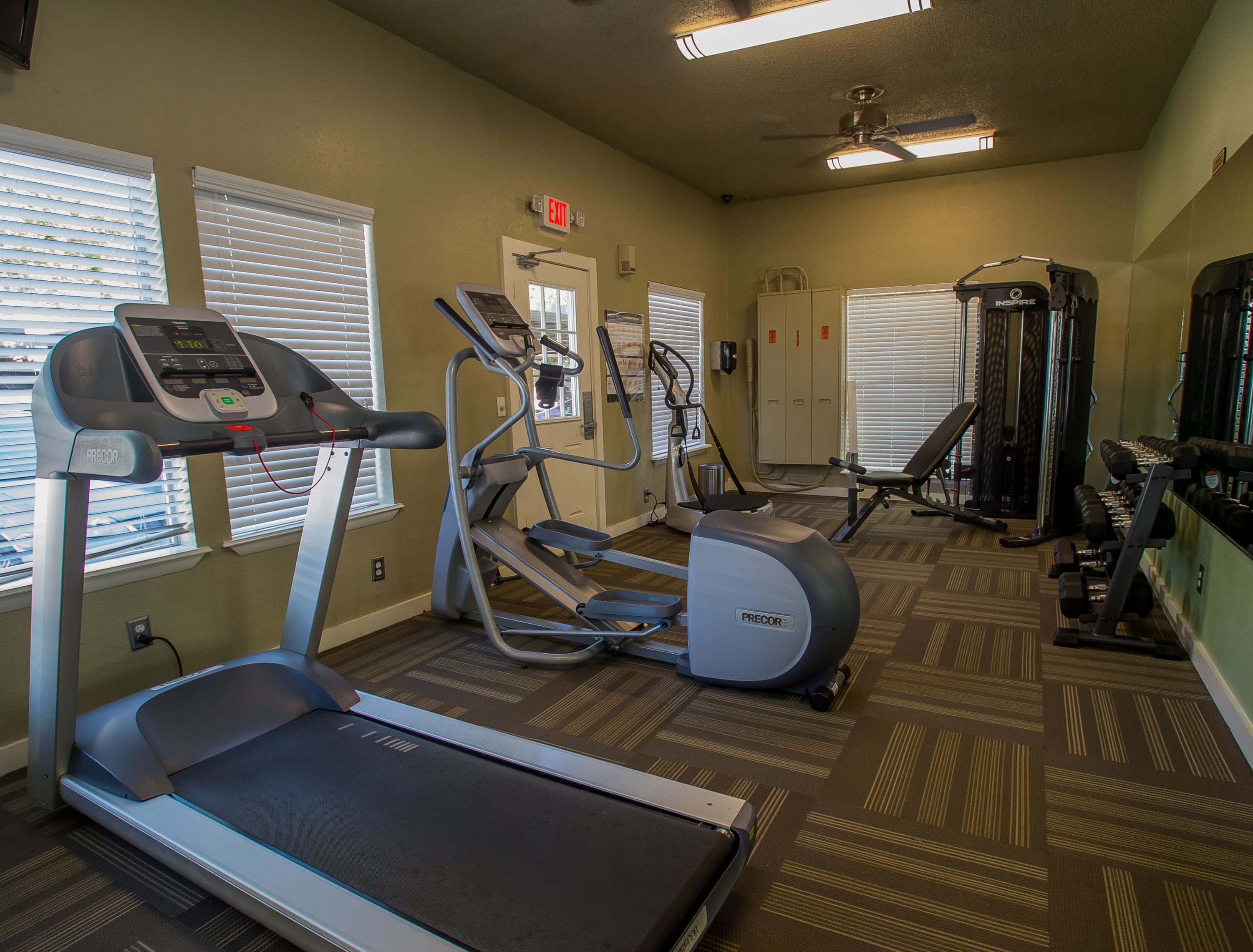 Fitness center Barcelona Apartments in Tulsa, Oklahoma